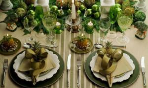 Apparecchiare-la-tavola-natalizia-2014-Colore-verde
